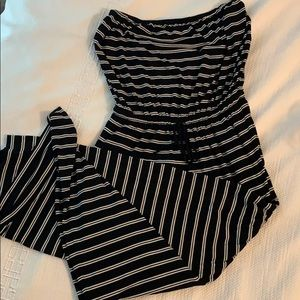 Black and white striped maxi (with pockets!)